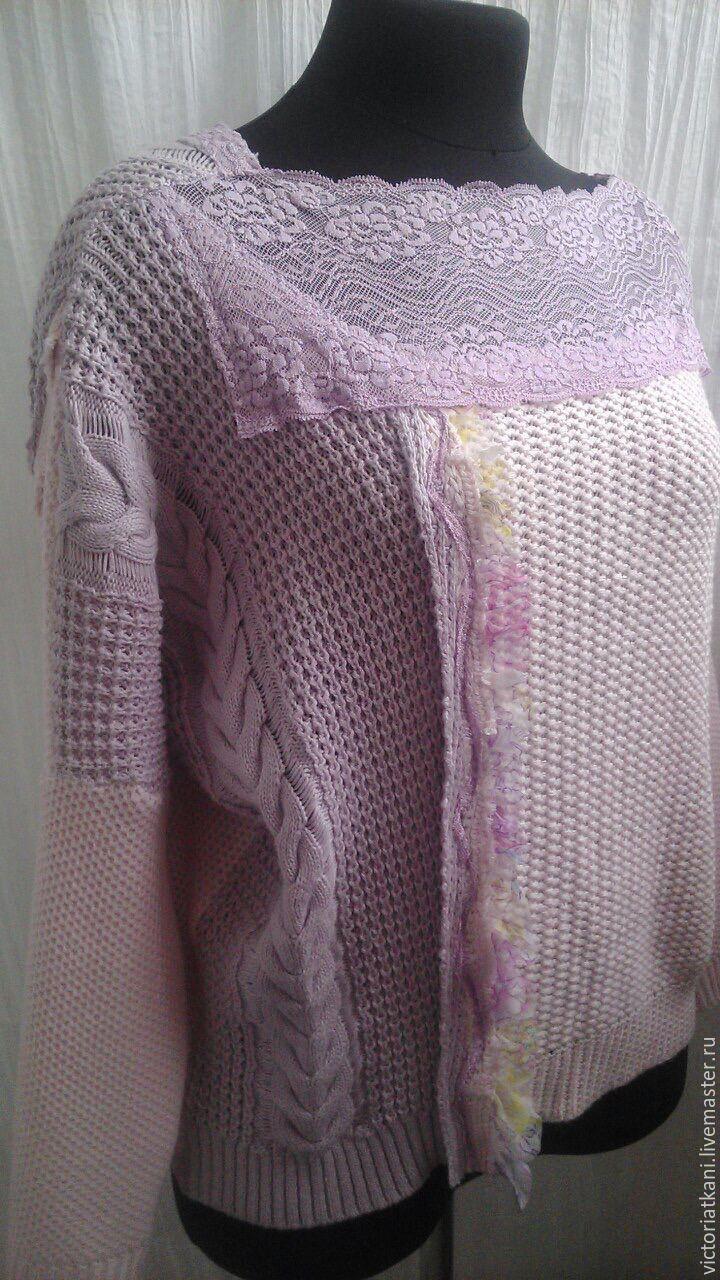 """Купить Пуловер""""Кружево и косы"""" - розовый, орнамент, свитшот в стиле бохо, свитшот, пуловер, пуловер с косами"""