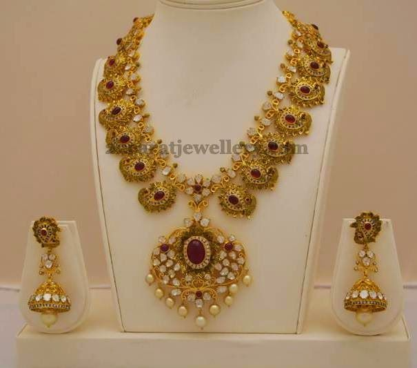Regal Mango Mala by Totaram Jewellery | Jewellery Designs