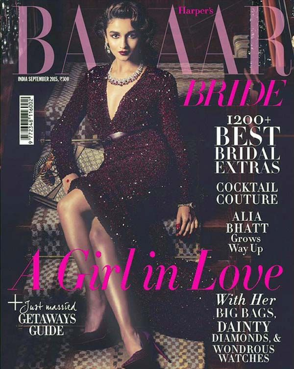 #Alia Bhatt on the cover of Harpers Bazaar   For more click on www.bollywoodlife.com