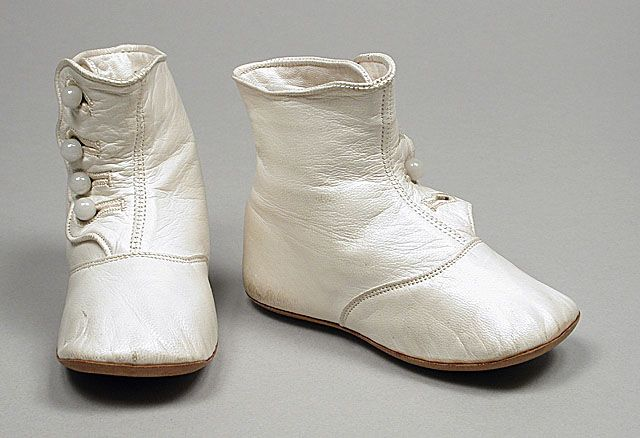 antique glove leather baby shoes ... Los Angeles Country Museum of Art