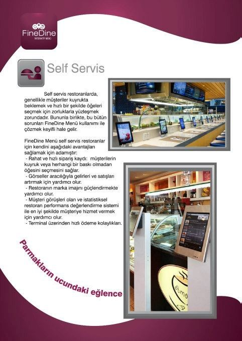 self servis restoran sistemi. iPad Kiosk in Restaurants.  http://www.finedinemenu.com/