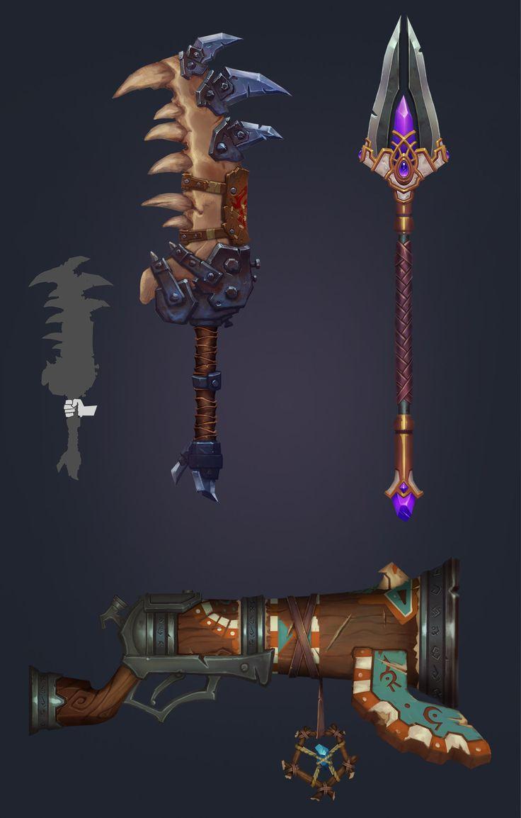 Warcraft Fan Art- Weapons, Ian Jacobson
