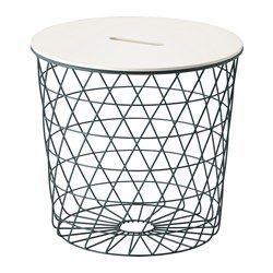 IKEA - KVISTBRO, Aufbewahrungstisch, , Der Korb ist praktisch für Kissen, Zeitungen, Wolle oder anderes - ohne Füllung im Korb wirkt…