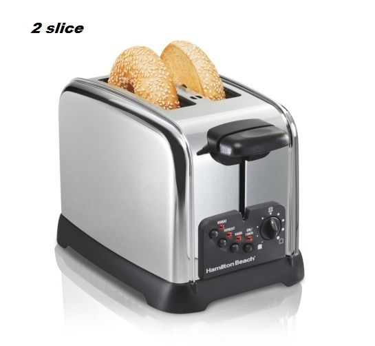 Classic Toaster Electric Kitchen Toast Bread Breakfast Extra Wide Bagel Cooking Product Description: This 2 or 4 Slice Toaster is popular not only for its expert toasting performance - it also look amazing in your kitchen. Wider slots & smart buttons allow you to uniformly toast & warm bagels, English muffins & other breads, & advanced toasting technology ensures consistent results with each use. 2 or 4 Slice Toaster Features: Lifts slices higher with toast boost Cool touch exterior Auto…