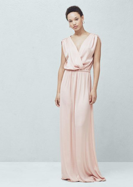 pink grecian wedding dress from mango super cheap and super gorgeous check out the