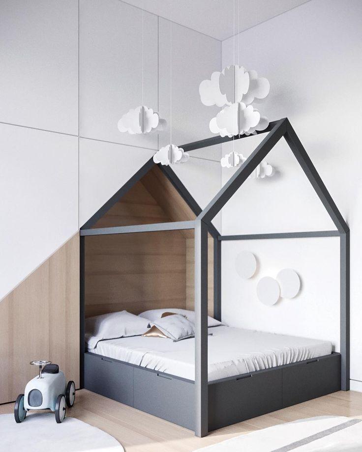 Шкаф со встроенной детской кроваткой в скандинавском стиле. Конструкция выполняется на заказ по вашим размерам. Для расчёта стоимости: ☎️+7 (495) 774-34-02 info@arthunter.ru