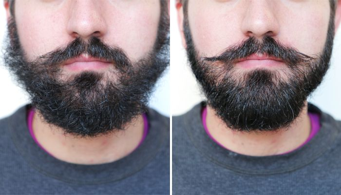 It might seem counterintuitive to trim your beard if your ultimate goal is length, but a little pruning goes a long way during the awkward growth stages.