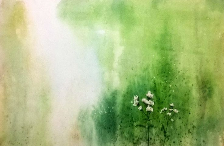 """""""Wild Flowers"""" a water colour painting by Bhanupratap Khare"""