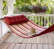 HammockPotterybarn, Hammocks, Back Yards, Naps Time, Outdoor Spaces, Wraps Around Porches, Pottery Barns, Front Porches, Backyards