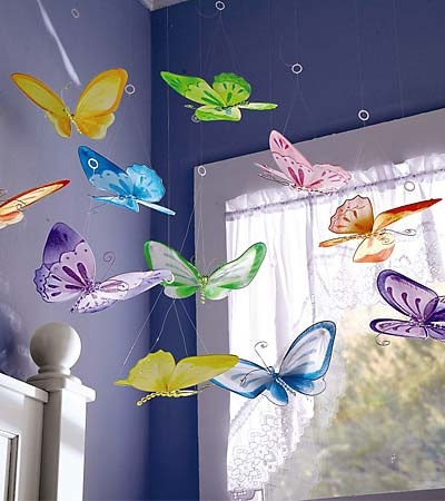 Wouldn't this be beautiful to wake up to each morning? butterflies