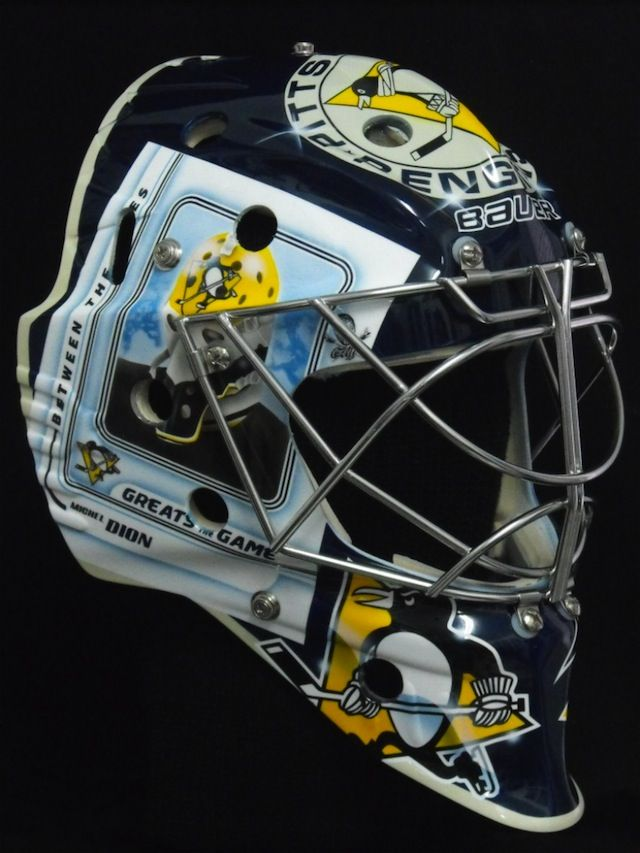 """Marc-Andre Fleury """"third-jersey mask"""""""