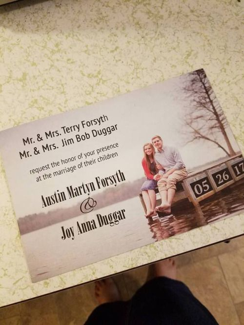 Another wedding invitation with a different engagement pic....found on tumblr.