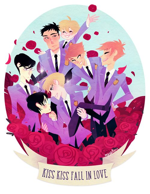 """8.5x11"""" Ouran High School Host Club print on glossy, heavy letter paper."""