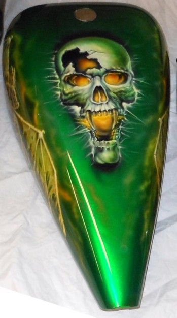 Airbrush Rob Zombie Motorcycle