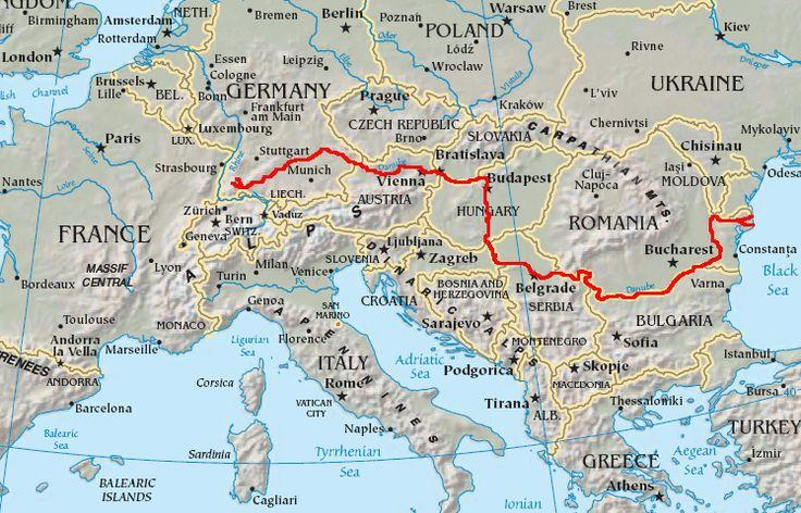 The Danube is the second longest of the rivers of Europe (after the Volga) #Danube #river #Volga #Europe #westtoeast #peak #Kandel #BlackForest #BlackSea #mountain #sea #Germany #Romania #capitals #international #riverroad #countries #Austria #Slovakia #Hungary #Croatia #Serbia #Moldova #Ukraine #Vienna #Bratislava #Budapest #Belgrade