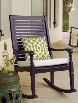 Settle Into The Generous Proportions And Comfortable Contours Of Nantucket Outdoor Rocking Chair