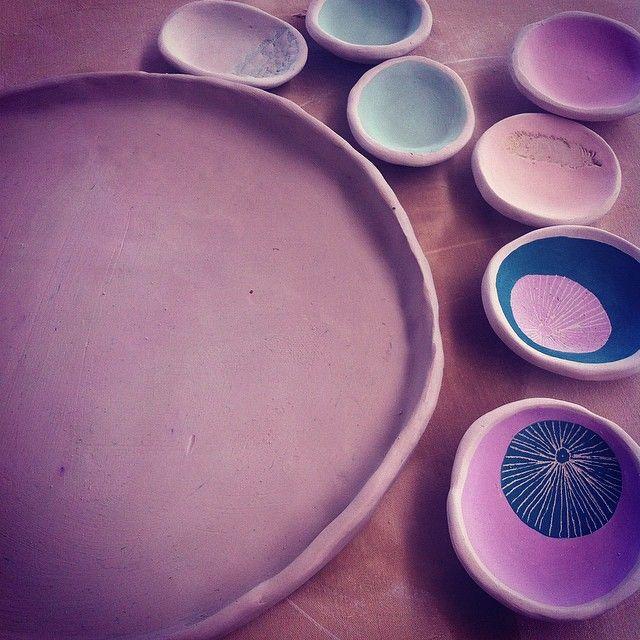 clay play small herb bowls
