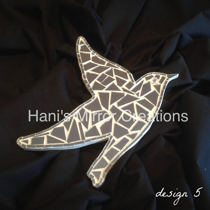 Mosaic Bird design 5 https://www.facebook.com/HanisMirrorCreations