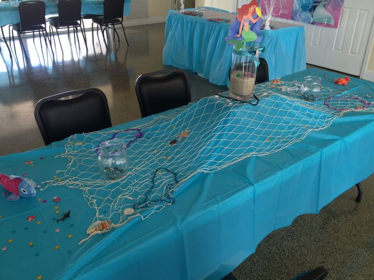 Little mermaid themed birthday party decorations diy for Ariel decoration party