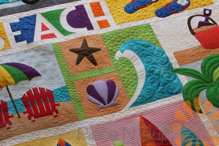 How Cute Is This Beach Break Quilt Description From Pieceandquilt Com I Searched For This On Bing Com Image Machine Quilting Free Motion Quilting Beach Quilt