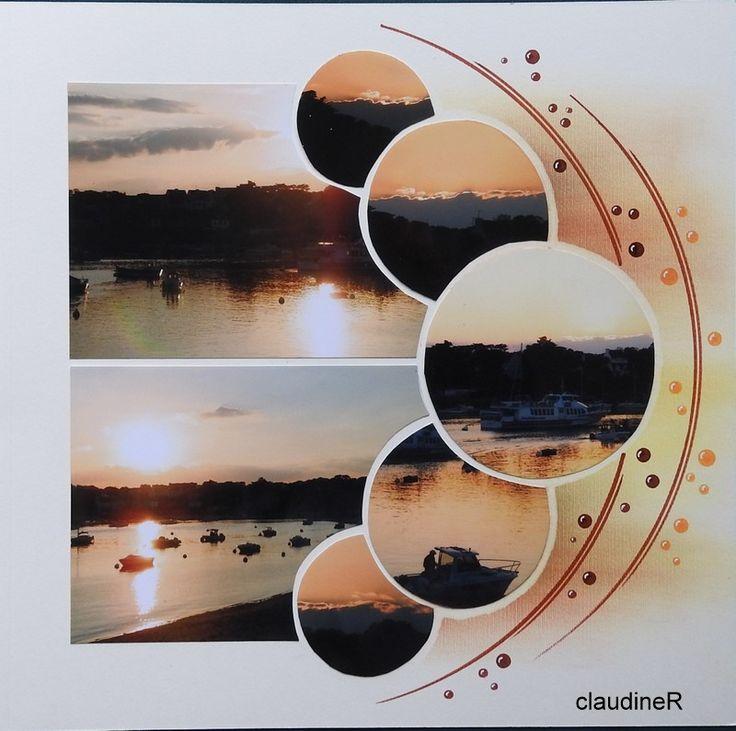 coucher de soleil sur Bénodet (gab perle de perle de sable)