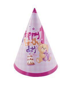 Doğum günü parti süslemeleri için 1 Yaş Kız Doğum Günü Külah Şapkaları ürünümüzü online olarak uygun fiyatlar ile satın alabilirsiniz