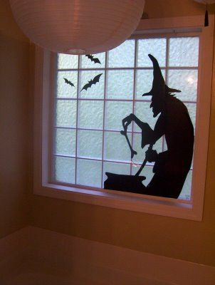 371 best halloween ideas! images on Pinterest Halloween - halloween window decorations