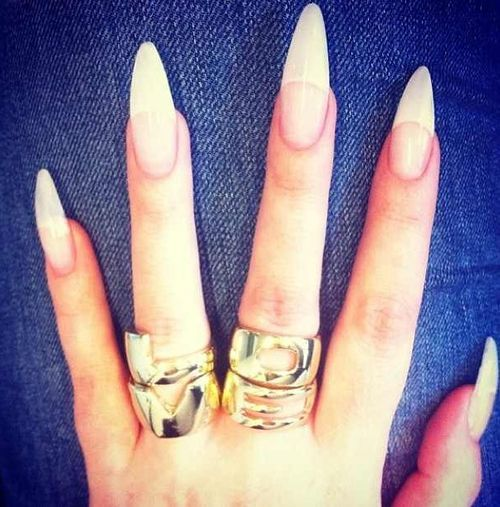 Stiletto French Tip Nails