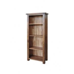 Rustic Solid Oak SRDK25 5FT Narrow Bookcase  www.easyfurn.co.uk