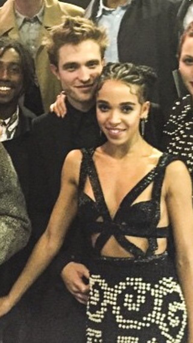 Rob with FKA Twigs and her team at the Brit Awards - 02/25/15