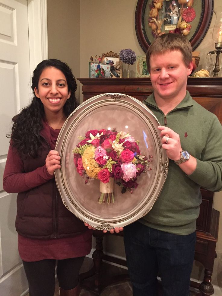 Bride and Groom with their wedding bouquet preserved by Flowers Forever | The Pink Bride®️️ www.thepinkbride.com