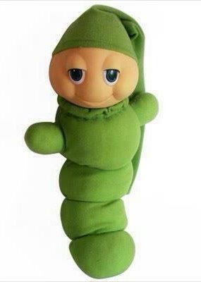 Hier sliep ik altijd mee de gloeiworm