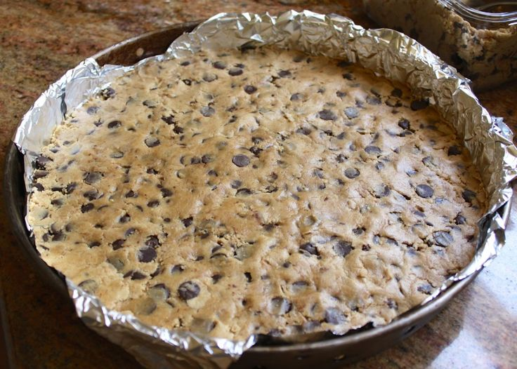 Raw cookie dough ready to be baked