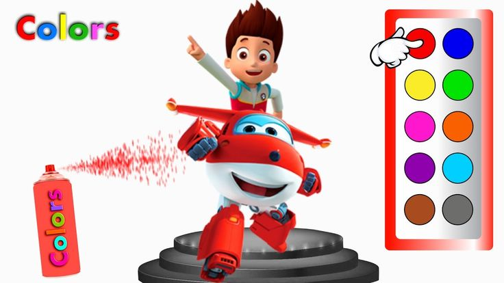 Learn Colors with Super Wings & Ryder Paw Patrol - Colors for Children