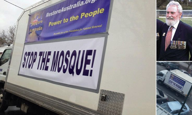 Vietnam war hero drives truck with 'Stop The Mosque' on the side