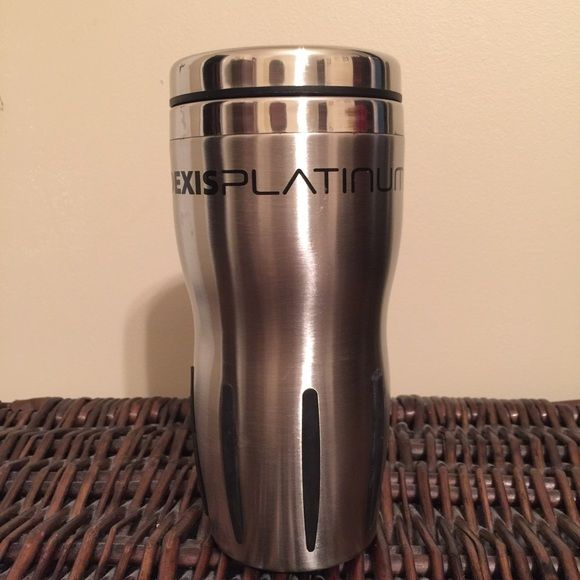 Stainless steel coffee tumbler with lid Gently used, very nice, Insulated Stainless Steel Coffee Cup/Tumbler, with lid, great cup for both hot/cold, upgraded to a YETI,  so, I don't use anymore, black rubber grips (comes in handy for clumsy people like me ) Other