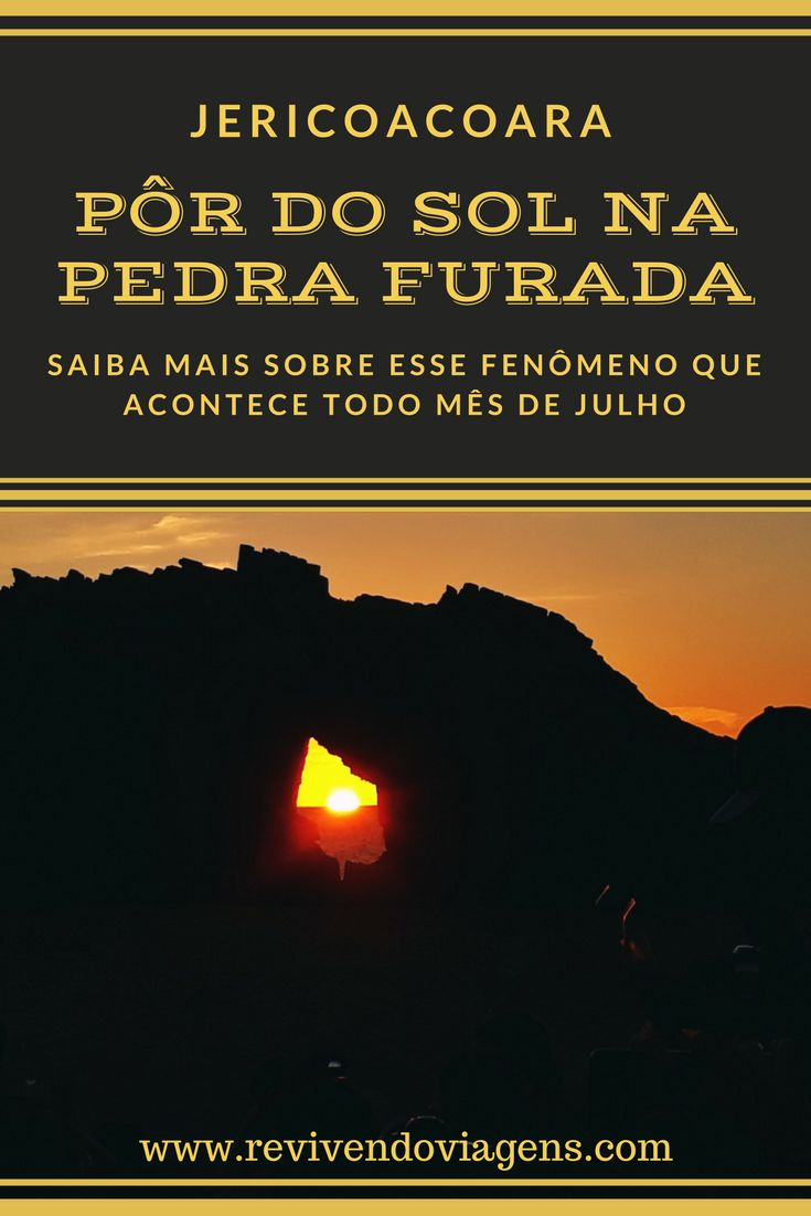Assistir ao pôr do sol é um dos principais programas de Jericoacoara. Em julho acontece um fenômeno único: o sol se põe no meio da Pedra Furada, o cartão posta de Jeri.