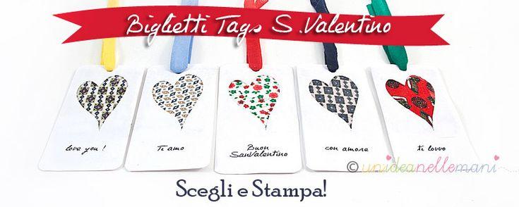 Biglietti di auguri per San Valentino: stampa e crea in pochi minuti il tuo Biglietto Tags Chiudipacco personalizzato di San Valentino!