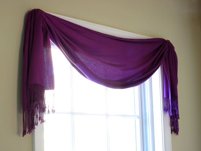 Easiest Window Treatment EVER!  Even better... you can get it in any color or pattern that you want.