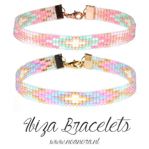 I love ibiza bracelets in pastel pink, purple, mint, gold, silver & white! ♡ www.noanora.nl