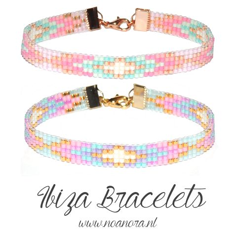I love ibiza bracelets in pastel pink, purple, mint, gold, silver & white! ♡ www.noanora.nl