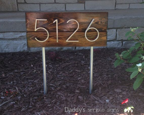 25 best ideas about house numbers modern on pinterest for Mid century modern address numbers