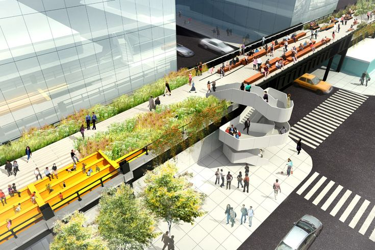 'high line at the rail yards' by james corner field operations & diller scofidio + renfro, new york.