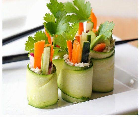 Blog - Courgette Sushi Rolls   Recept