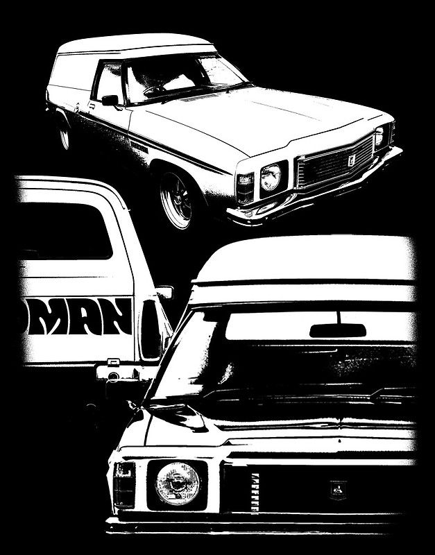 Holden Sandman Panel Van T-Shirt - BW2 by blulime