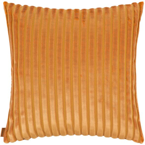 Missoni Home Coomba Cushion - 62 - 40x40cm (£120) ❤ liked on Polyvore featuring home, home decor, throw pillows, yellow, stripes throw pillow, striped throw pillows, yellow accent pillows, yellow home accessories and textured throw pillows