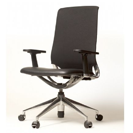 Tedo Mesh Leather Executive Chair - the Tedo chair speaks for itself. Modern but free from fashion, clear but dominating, comfortable yet slim, high quality but not lavish. The following structure of star base in polished aluminium, the elegant curvature of black frame with metal pieces and stretch fabric with soft texture for backrest, make it a smart choice not only for a design studio... but also an elegant office.