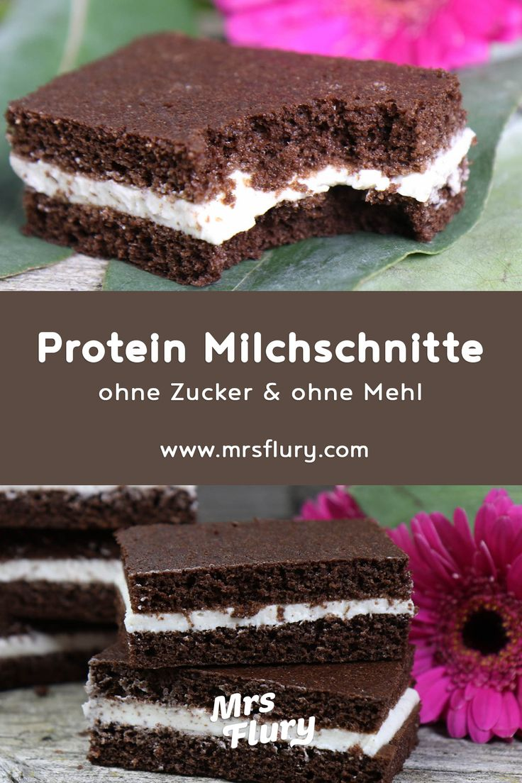 Low Carb Protein Milchschnitte Mrs Flury Protein Snack, Milchschnitte selber mac…