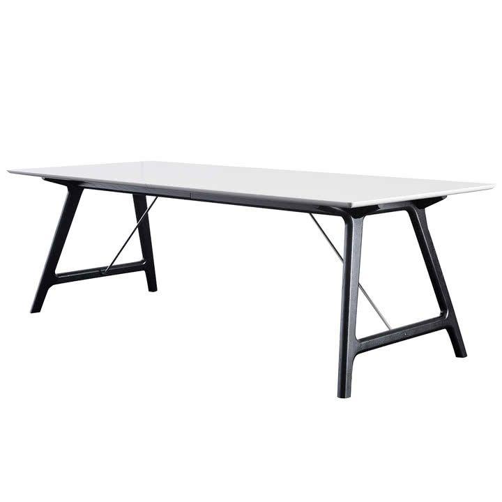 T7 Ausziehtisch 220 cm von Andersen Furniture in Eiche schwarz lackiert / weiß