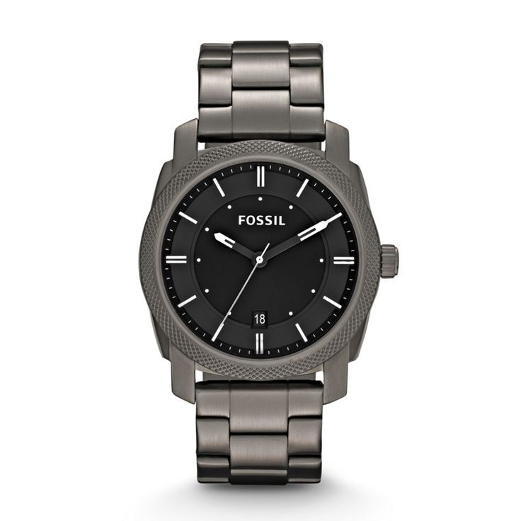 Machine Three Hand Stainless Steel Watch - Smoke FS4774 | FOSSIL®
